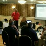 General Manager Petro Jersey Industries teaching a class of home inspectors about oil tanks and what to do look for